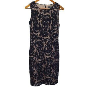 Adrianna Papell Black Lace Shift Dress size 6